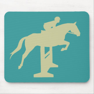 Hunter Jumper Horse & Rider (sage green) Gifts Mouse Pad