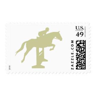 Hunter Jumper Horse & Rider (sage green) Gifts Postage Stamp