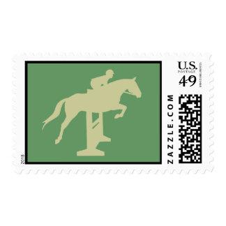 Hunter Jumper Horse & Rider (sage green) Gifts Postage Stamps