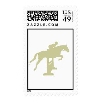 Hunter Jumper Horse & Rider (sage green) Gifts Stamp