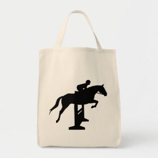 Hunter Jumper Horse & Rider Tote Bag