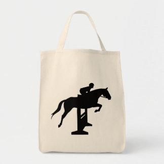 Hunter Jumper Horse & Rider Tote Bag