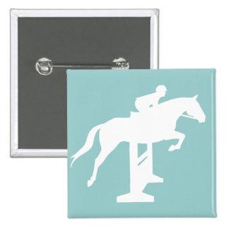 Hunter Jumper Horse & Rider (white) Pins