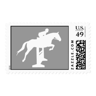 Hunter Jumper Horse & Rider (white) Postage