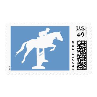 Hunter Jumper Horse & Rider (white) Stamps