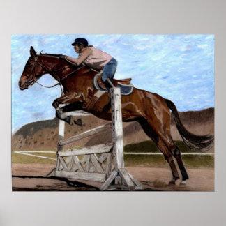 Hunter/Jumper Horse Training Art Print