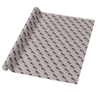 Hunter Jumper Horse Wrapping Paper