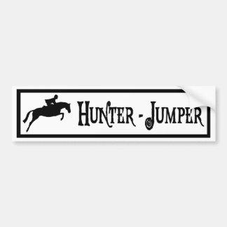 Hunter Jumper (pirate style) Car Bumper Sticker