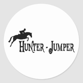 Hunter Jumper (pirate style) Classic Round Sticker