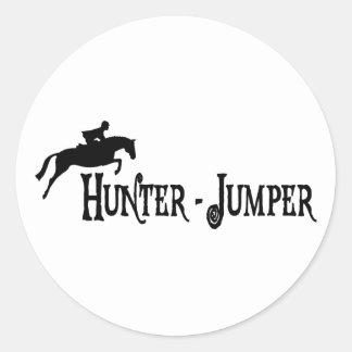 Hunter Jumper (pirate style) Classic Round Sticker