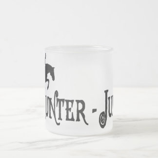 Hunter Jumper (pirate style) Frosted Glass Coffee Mug