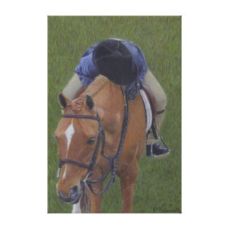 Hunter Jumper Pony and Girl Wrapped Canvas Art Canvas Print