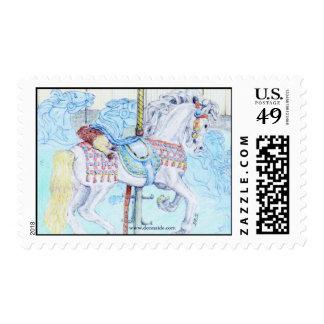 'Hunter' Merry-Go-Round US Postage Stamp