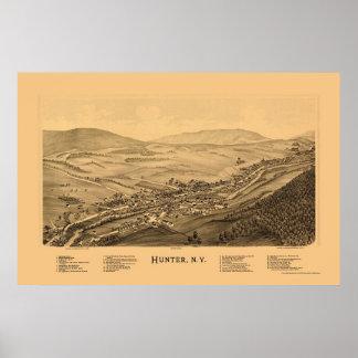 Hunter, NY Panoramic Map - 1890 Poster