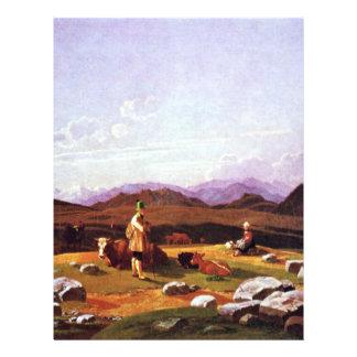 Hunter On The Mountain Pasture By Wilhelm Von Flyer