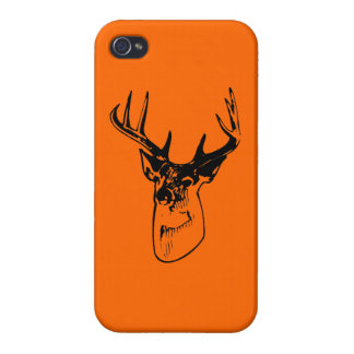 Hunter Orange Big Whitetail Buck Silhouette iPhone 4/4S Cover