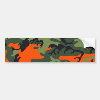 Hunter Orange Camo Bumper Sticker