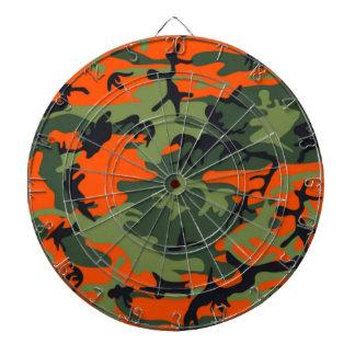 Hunter Orange Camo Dart Board