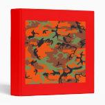 Hunter Orange with Green Camouflage Binder