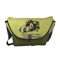 Hunter Over Fences Jumping Horse Messenger Bag
