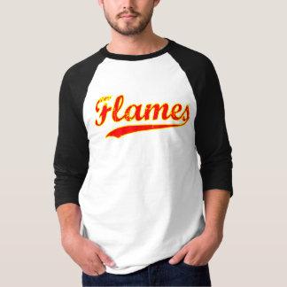 Hunter Park Flames Baseball Style T-Shirt