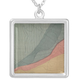Hunter Park Special Sheet Atlas Map Silver Plated Necklace