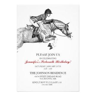 Hunter Pony Birthday Party Invitation