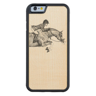 Hunter Pony Pointillism Carved Maple iPhone 6 Bumper Case