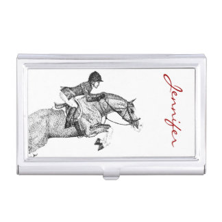 Hunter Pony Pointillism Case For Business Cards