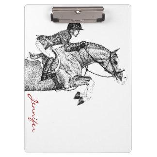 Hunter Pony Pointillism Clipboard