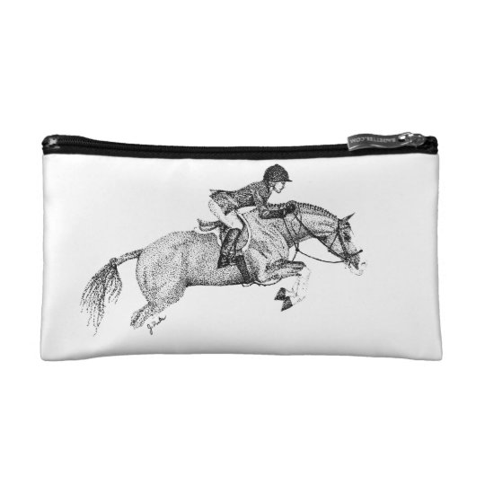 Hunter Pony Pointillism Cosmetic Bag