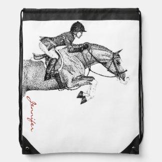 Hunter Pony Pointillism Drawstring Backpack