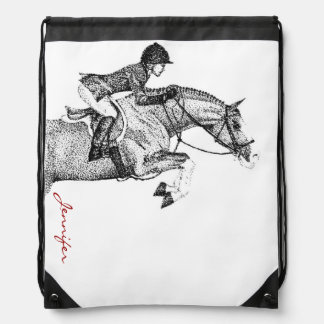 Hunter Pony Pointillism Drawstring Bag