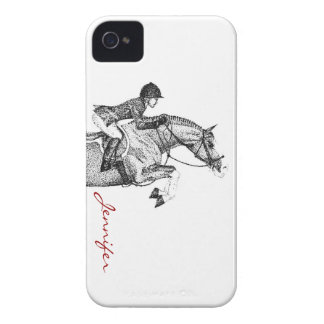 Hunter Pony Pointillism iPhone 4 Case-Mate Case