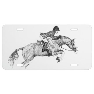 Hunter Pony Pointillism License Plate