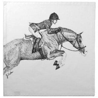Hunter Pony Pointillism Napkin