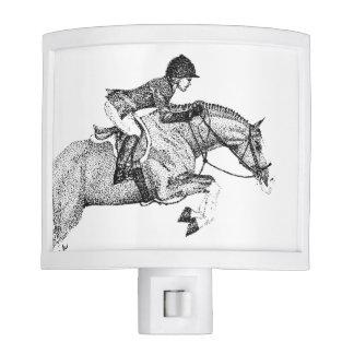 Hunter Pony Pointillism Night Light