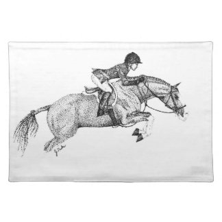 Hunter Pony Pointillism Placemat