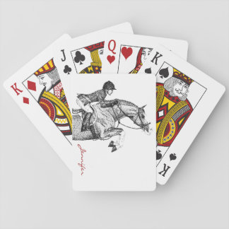 Hunter Pony Pointillism Playing Cards