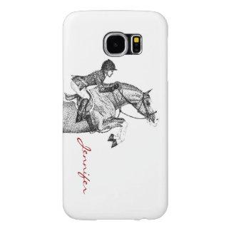 Hunter Pony Pointillism Samsung Galaxy S6 Cases