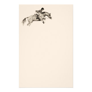 Hunter Pony Pointillism Stationery Paper