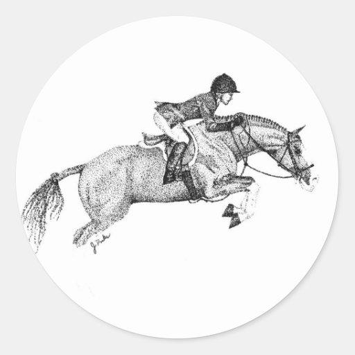 Hunter Pony Pointillism Sticker