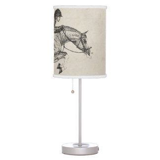Hunter Pony Pointillism Table Lamp