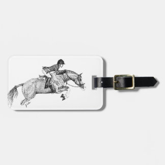 Hunter Pony Pointillism Tag For Luggage