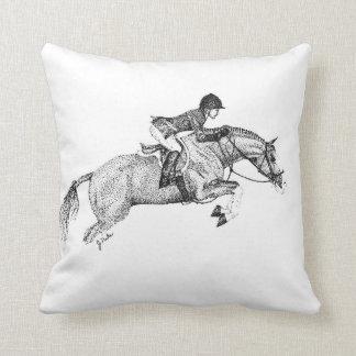 Hunter Pony Pointillism Throw Pillow