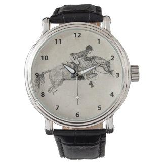 Hunter Pony Pointillism Wrist Watch