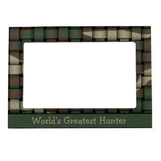 Hunter s Camouflage Photo Frame Magnets