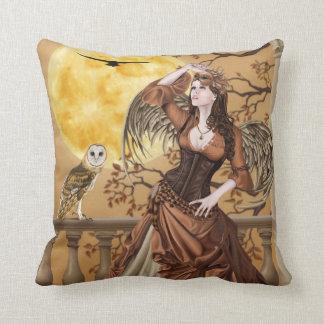 Hunter s Moon - Owl Fairy - Throw Pillow