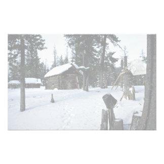 Hunter s shelter Siberia Winter Stationery Design