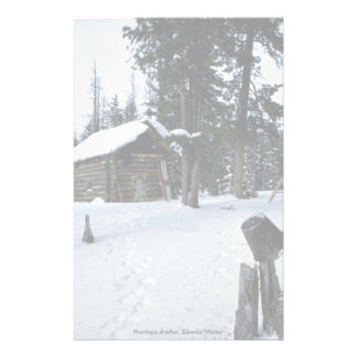 Hunter s shelter Siberia Winter Customized Stationery